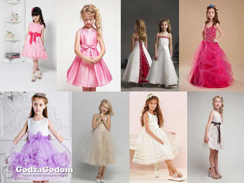 Детские платья и наряды для Нового года 2017 - фото