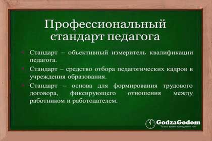 Стандарт деятельности педагога с 1 января 2017 года