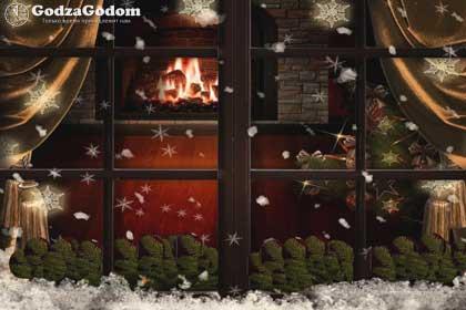 Красивое новогоднее окно: шаблоны на окна из бумаги