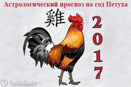 Астрологический прогноз на 2017 год Петуха