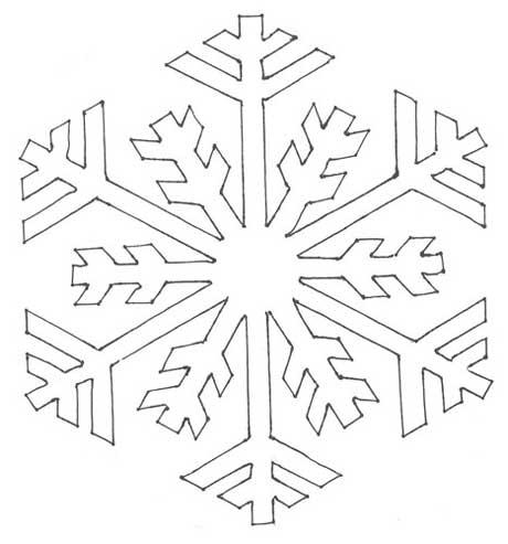 Вытынанки снежинки шаблоны фото 672-591