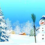 Рисунок Снеговик