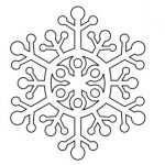 Шаблон Снежинка