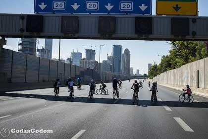 Улицы Израиля в праздник Йом-Кипура