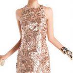 Фото новогоднее платье золотого цвета