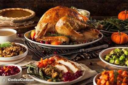 Индейка - традиционное блюдо на праздничном столе
