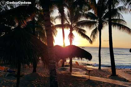 Пляж Доминиканы - красивый закат