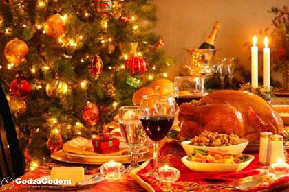 Праздничная сервировка новогоднего стола 2018 с мясными закусками