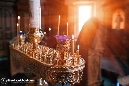 Празднование Благовещения Пресвятой Богородицы в церкви