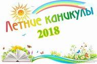 Школьные летние каникулы 2018