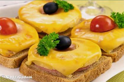 Фото 2 - вкусная закуска на Новый год 2018: гавайские тосты