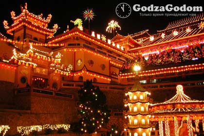 Украшение домов к китайскому новому году