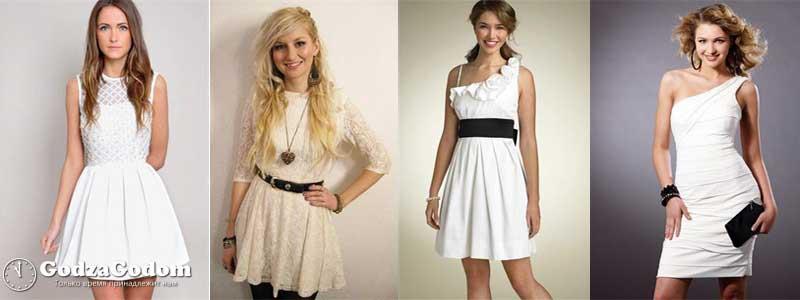 Фото - белые платья для женщин для встречи Нового года 2017