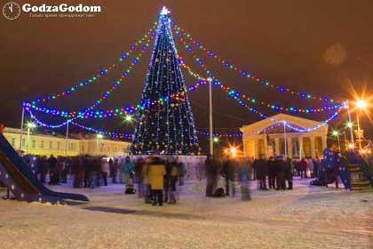 Главная ёлка Карелии в новогоднюю ночь (Петрозаводск)