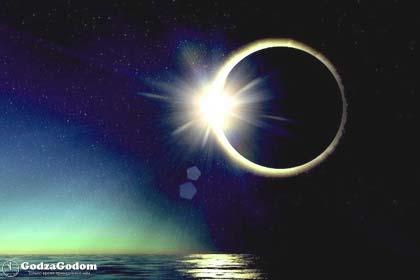 Фото полного солнечного затмения