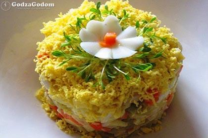 Простой салат к празднику Нового года