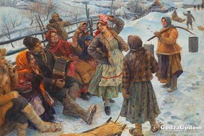 Раньше Святки праздновались с размахом и очень весело