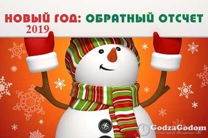 Сколько дней до Нового года 2019