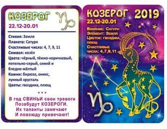 Гороскоп для Козерога на 2019 год