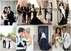 Свадьба в черно-белый