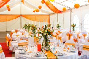 Модная оранжевая свадьба